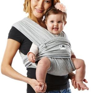 Baby K'Tan Adjustable Gray Baby Wrap Carrier